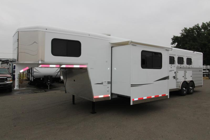 "2019 Trails West  Sierra 13 x 13 w/ Slide Out 3 Horse Trailer - Side Tack - Mangers - 8 Cubic Ft Refrigerator - Escape Door - 8' Wide 7'6"" Tall"