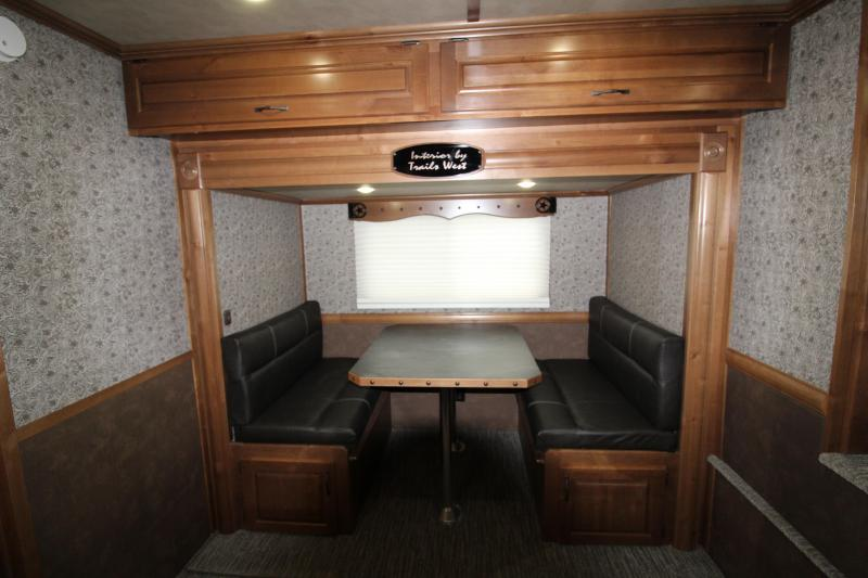 """2019 Trails West  Sierra 13 x 13 w/ Slide Out 3 Horse Trailer - Side Tack - Mangers - 8 Cubic Ft Refrigerator - Escape Door - 8' Wide 7'6"""" Tall"""
