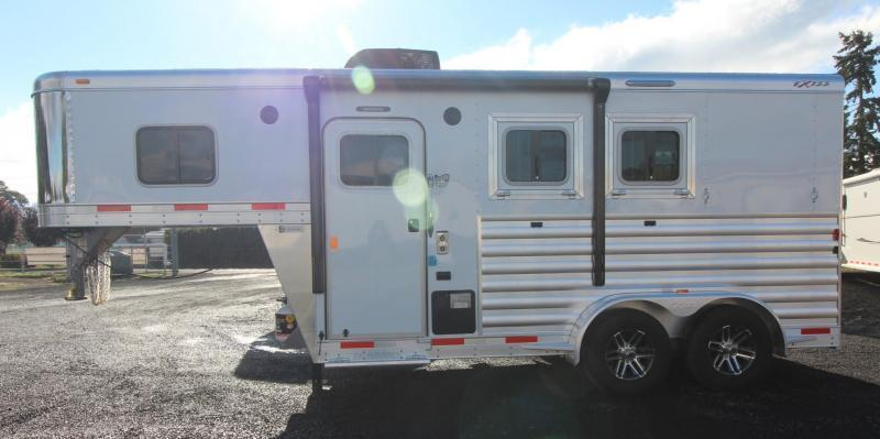 2019 Exiss Escape 7204 - 4ft S.W. Living Quarters 2 Horse Trailer - Easy Care Flooring PRICE REDUCED