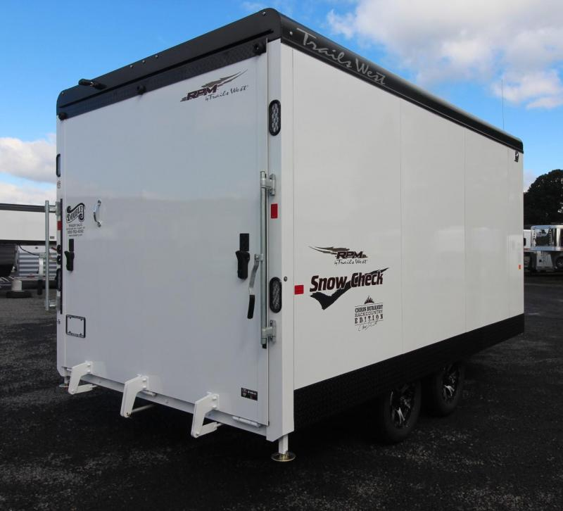 2019 Trails West 20ft RPM Snow Check Burandt Snowmobile Trailer Power Rear Ramp
