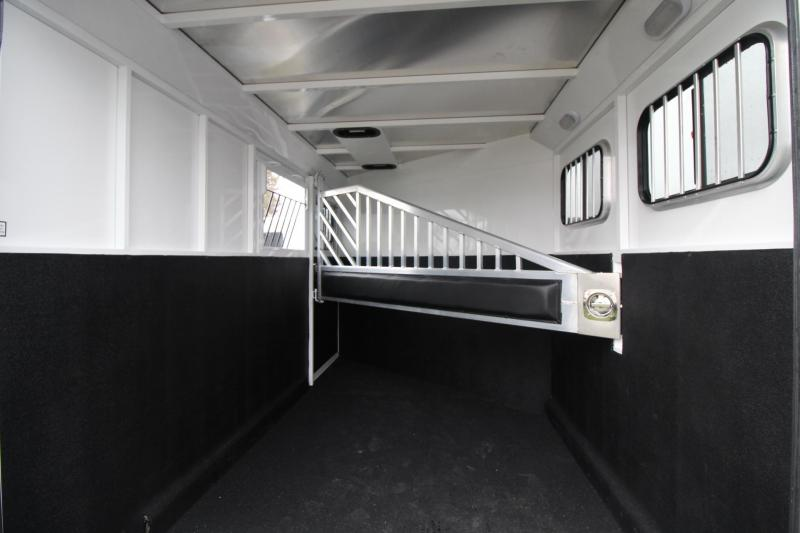 2018 Trails West Classic II 2 Horse Trailer -  - Escape Door - Swing out Saddle Rack