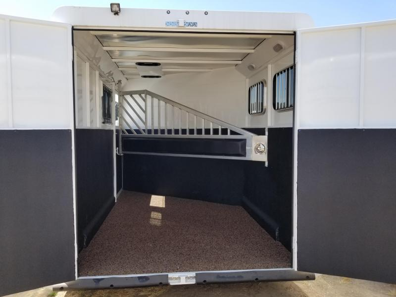 2018 Trails West Classic II 2 Horse Trailer - Hoof Grip Floor - Escape Door - Swing out Saddle Rack