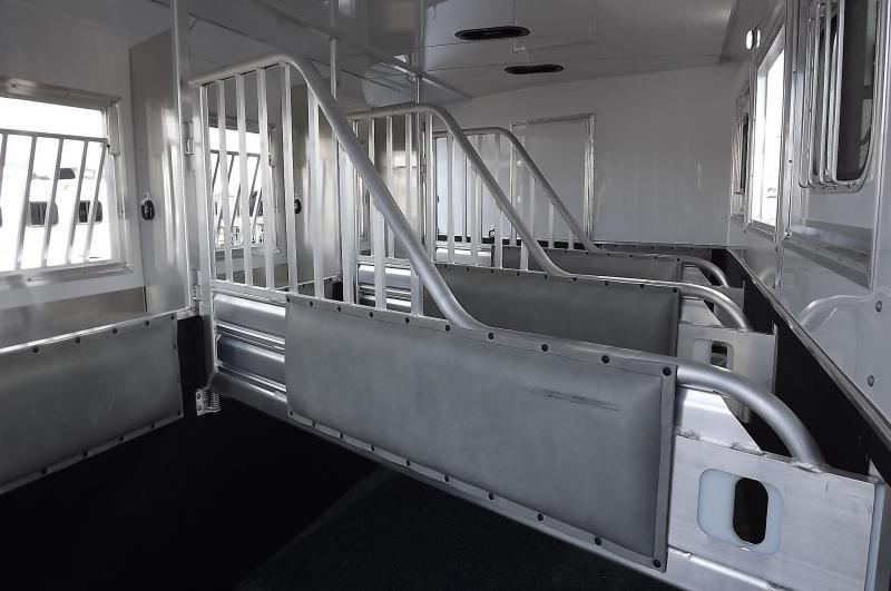 "2017 Featherlite 9821 Liberty Legend 13' SW 8' Wide 7'6"" Tall - Slide Out - Dinette - Easy Care Flooring - Power Awning - Lots of Upgrades Incl. Oven - PRICE REDUCED - 4 Horse Trailer"