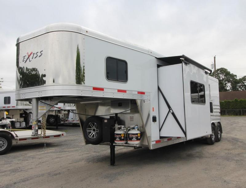 2019 Exiss Trailers 7210 - 10'sw Living Quarters w/ Slide Out 2 Horse Trailer