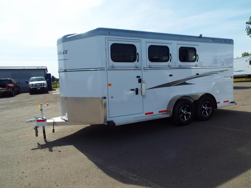 2017 Trails West Sierra Specialite 3 Horse Trailer w/ Escape Door