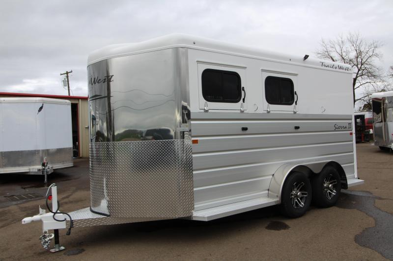 "2019 Trails West Sierra Horse Trailer - 7'6"" Tall with Warmblood Stalls"