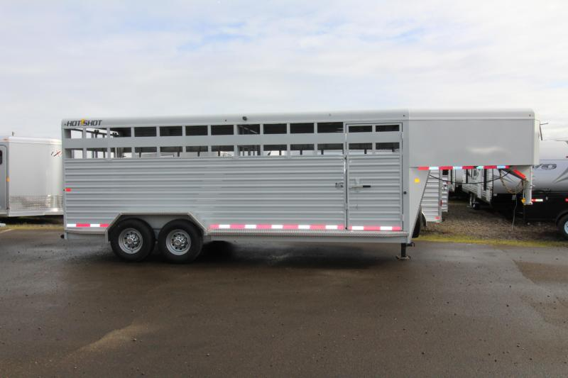2018 Trails West Hotshot 20 ft. Steel Stock Trailer w/ Sliding Rear Gate - PRICE REDUCED