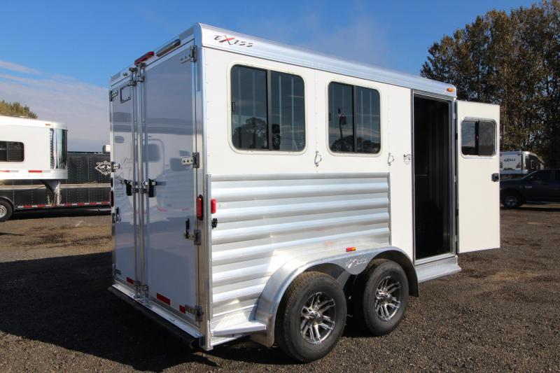2018 Exiss Express - Upgraded jail bar divider - Carpeted slant wall in tack room - 2 Horse Trailer W/ Polylast Horse Flooring PRICE REDUCED