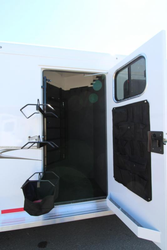 "2019 Trails West Classic 3 Horse Lined and Insulated Gooseneck Area Comfort Package -  7'6"" Tall - Rear Broom Closet - Escape Door - Side Tack Room - Steel Frame Construction with Aluminum Skin"