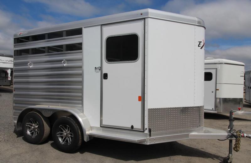 2020 Exiss Express CX 2 Horse Aluminum Trailer - Polylast Floor - Plexi Glass Inserts