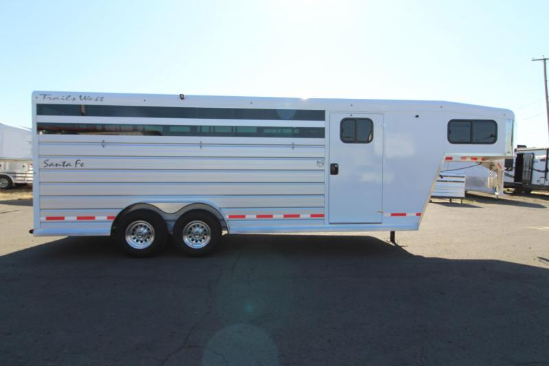 2019 Trails West Santa Fe  21' Straight Tack w/ Center Gate - Steel Frame Aluminum Skin Trailer