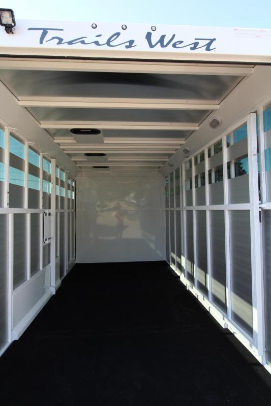 2019 Trails West Santa Fe  21' Straight Tack w/ Center Gate - Steel Frame Aluminum Skin Trailer