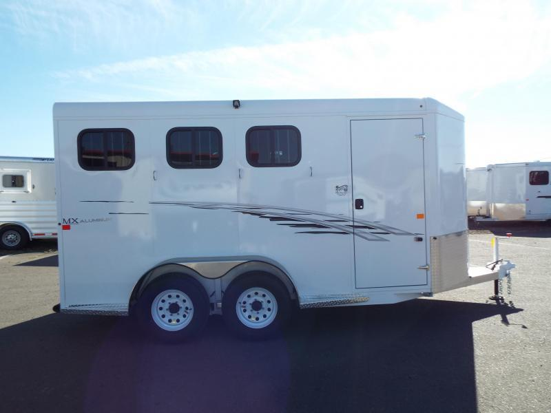 "2017 Trails West Adventure MX Alum. Skin 7' Tall 6'9"" Wide 3 Horse Trailer"