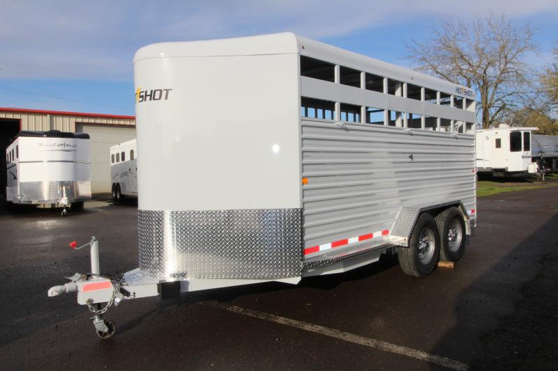 2018 Trails West Hotshot 17 ft w/ Rear Slider Gate - Bumper Pull  Steel Stock Trailer