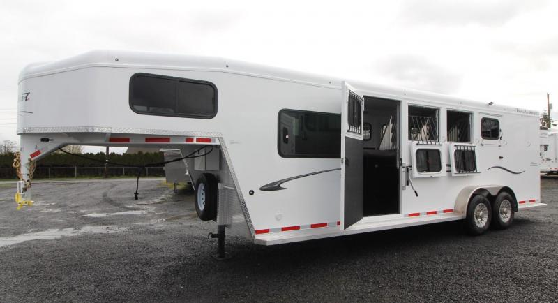 2019 Trails West Classic 5x5 Comfort Package Sleeping area 4 Horse Trailer w/ Side Tack in WA