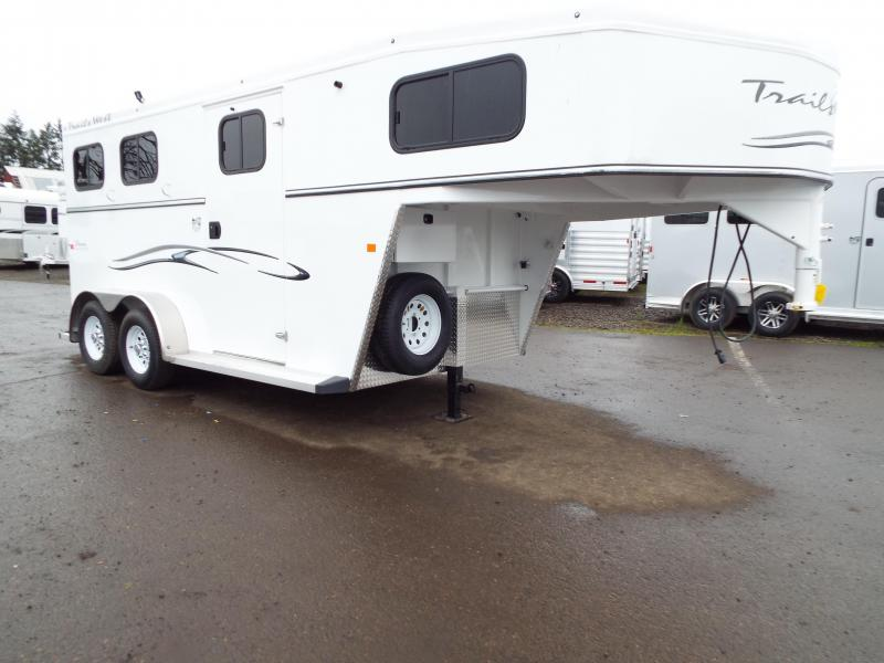 2017 Trails West Classic SpeciALite Aluminum Skin - Steel Frame -  2 Horse Trailer w/ Convenience Pkg - 7' Tall and Wide