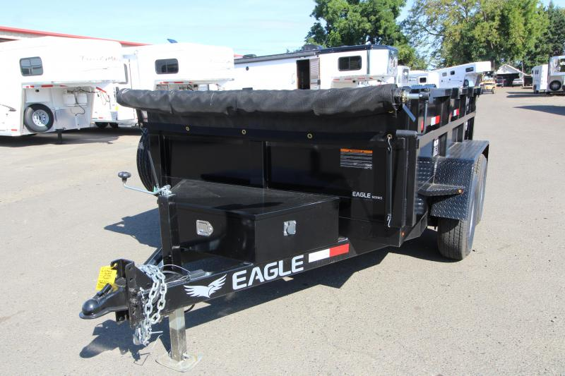 2019 Eagle Trailer 6x10 Tandem axle dump Utility Trailer- Roll tarp - Rear barn doors - Ramps- Ramp storage underneath - Interior D rings