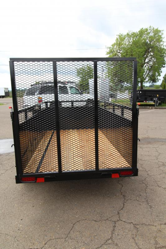 "2019 Eagle 4x8 Utility Trailer - 2x6 Fir Decking - 24"" Solid metal sides - Rectangle tube top tie rail - Pressure treated decking - J-Hooks"