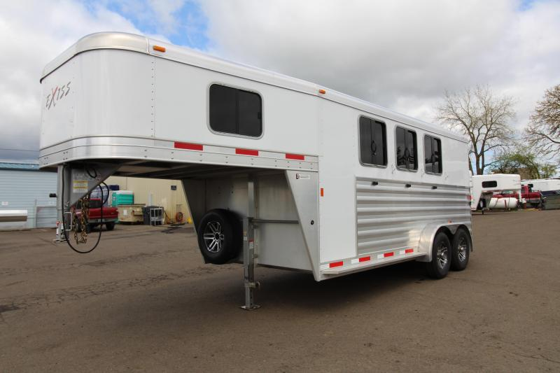 2016 Exiss 7300 Gooseneck Horse Trailer All Aluminum