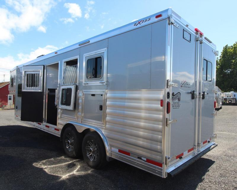 2018 Exiss Endeavor 8310 - 10' SW Living Quarters 8' Wide - Lined & Insulated Ceiling - Upgraded Side Sheets - Easy Care Flooring 3 Horse Trailer