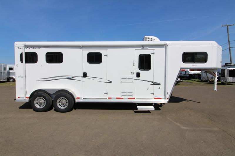 2019 Trails West Classic Weekender 7x7 Living Quarters - 2 Horse Trailer with Side Tack Room