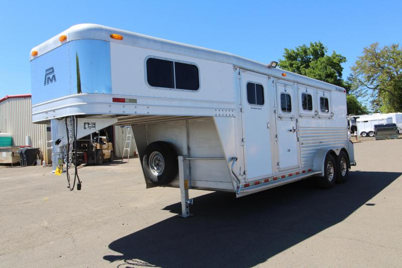 2003 Platinum 3 Horse Gooseneck Horse Trailer - Front and Back Tack - All Aluminum