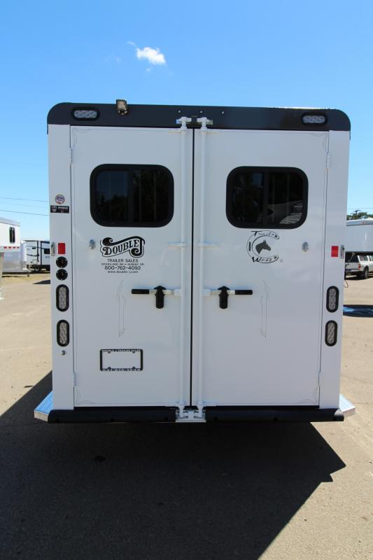 2019 Trails West Sierra Select 3 Horse Trailer - Vacuum Bonded Aluminum Construction - UPGRADED Folding Rear Tack w/ Swing Out Saddle Rack