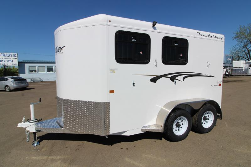 2020 Trails West Adventure MX 2 Horse Trailer - Swing Out Saddle Rack - Windows in Rear Doors