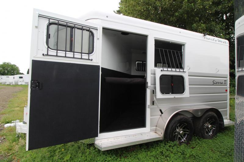 """2019 Trails West Sierra II 7' 6"""" Tall 2 Horse Trailer w/ Escape Door"""