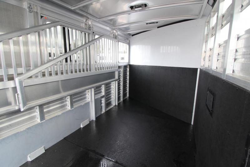 2018 Exiss Express CXF W/ Jail Bar Dividers Upgraded Side Sheets - Plexi Added - 3 Horse Bumper Pull Trailer