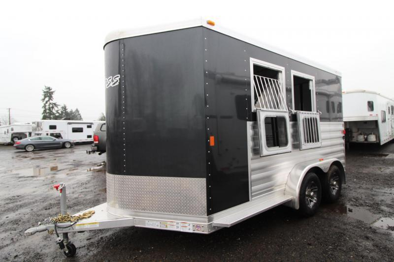 "2018 Exiss 720 - Polylast flooring - 7' 6"" Tall - 2 Horse Trailer - Large Tack Room! PRICE REDUCED $1595"