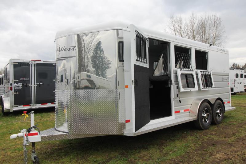 2018 Trails West Sierra II - Upgraded Extra Large Tack Room - 3 Horse Trailer - Aluminum Skin Steel Frame in Rhododendron, OR