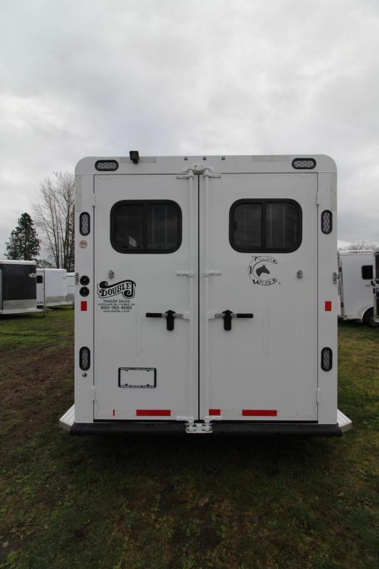 2018 Trails West Sierra II - Upgraded Extra Large Tack Room - 3 Horse Trailer - Aluminum Skin Steel Frame