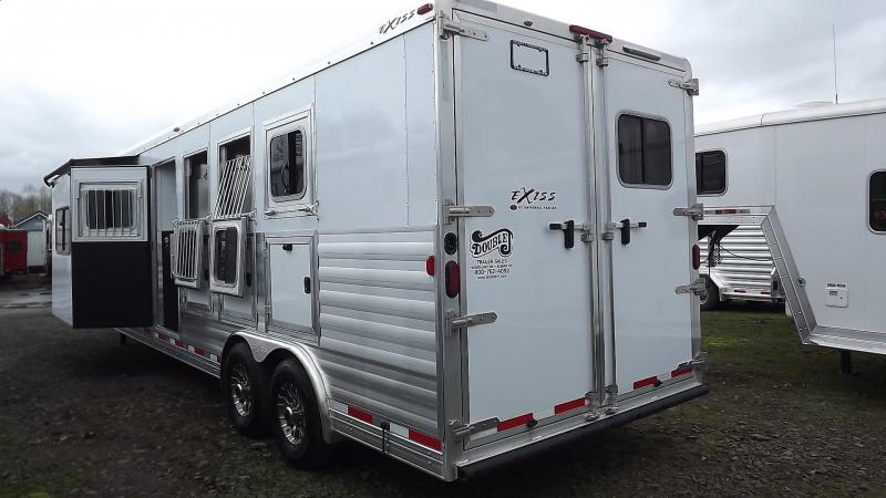 "2017 Exiss Endeavor 8410 - 10' short wall - W/ Dinette - Slide - Upgraded Interior - 7'8"" Tall 8' Wide  4 Horse LIving quarters Trailer"