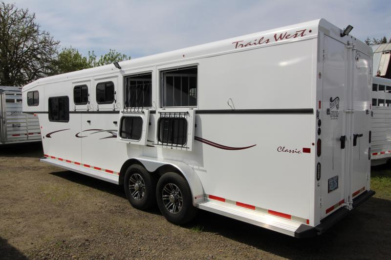 2015 Trails West Classic Comfort Package 4 Horse Trailer