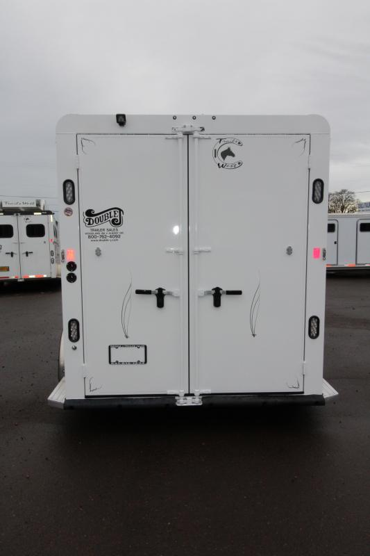 "2018 Trails West Classic - Aluminum skin steel frame - Aluminum Wheels - 2 Horse Trailer - Extra Tall 7'6"" Tall"