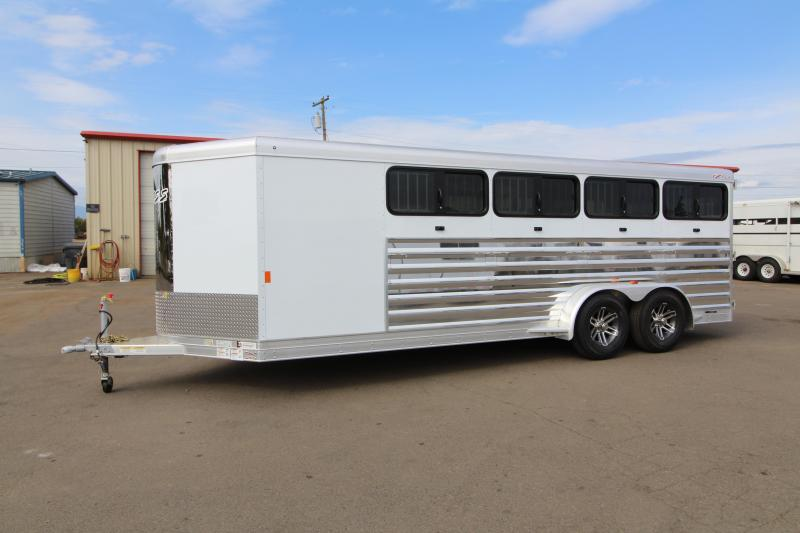 2019 Exiss Exhibitor 720 Livestock Trailer - Pen System - Drop Down Windows - Air Gaps - Rear Ramp -