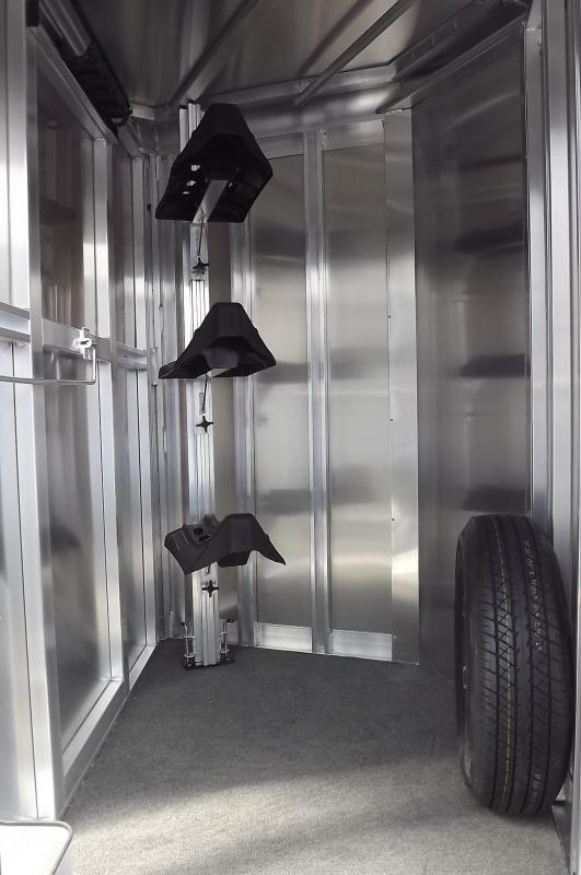 2017 Exiss Express XT All Aluminum Extruded - Upgraded Black Side Sheets 3 Horse Trailer