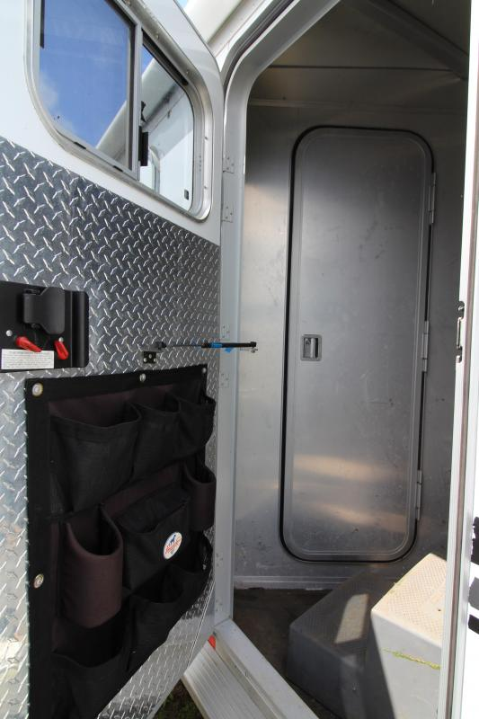 2000 Exiss All Aluminum 3 Horse Trailer - With Mid Tack - Awning - Hayrack - PRELIMINARY PHOTOS