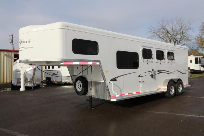 "2018 Trails West Classic Specialite 3 Horse - w/ 5x5 Comfort Package - Side Tack - 7'6"" Tall - Escape Door - First Stall Stud Wall Divider"