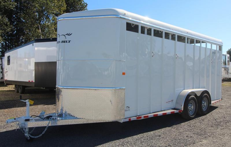 "2019 Thuro-Bilt Wrangler 4 Horse Trailer 7'6"" Tall Spare Extra Divider Catches Rear Flood Lights"