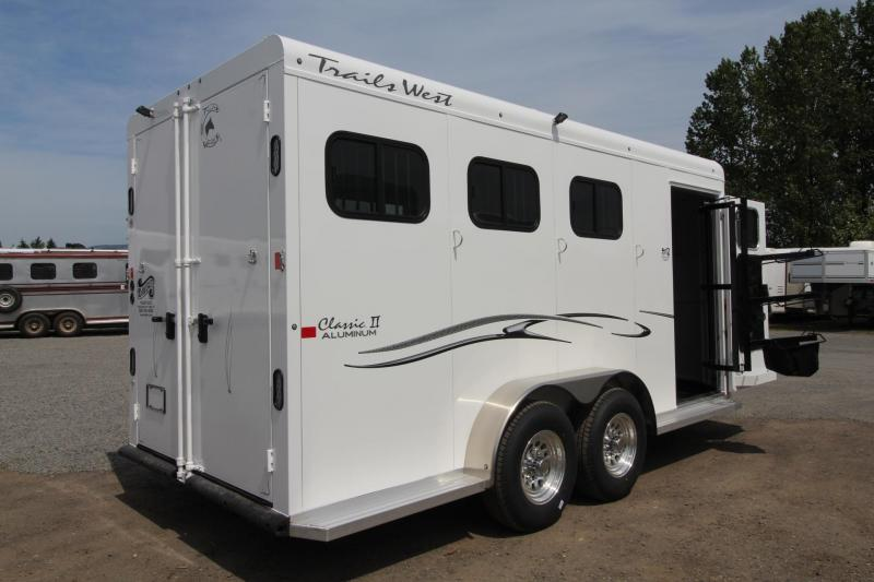 "2018 Trails West Classic II 7'6"" Tall - Lined & Insulated Roof - Escape Door 3 Horse Trailer - 6000# Axles"