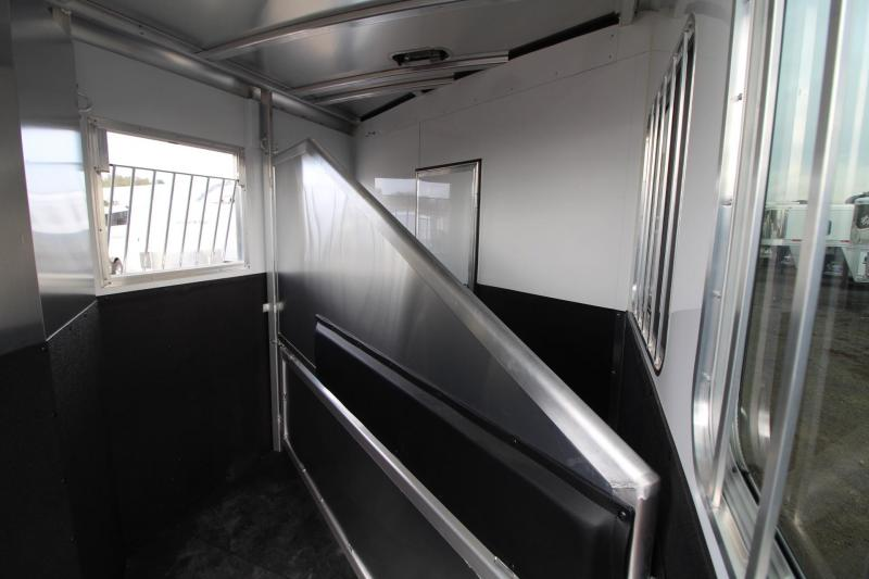2018 Exiss Express 7204 - Lower Stud Panel - Electric Panel - Metallic Black - Living Quarters 2 Horse Trailer