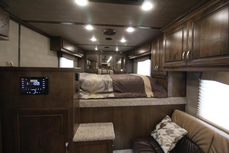 2018 Featherlite 9821 Liberty Legend - 15'ft Living Quarters w/ Slide - Couch & Dinette - 3 Horse Trailer