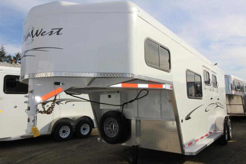 """2019 Trails West Classic - 7'6"""" Tall - Comfort Package 5x5 - 2 Horse Trailer"""