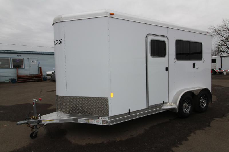 2019 Exiss Trailers 724 Straight Load 2 Horse Trailer - Large Dressing Room - Rear Ramp - Two Escape Doors