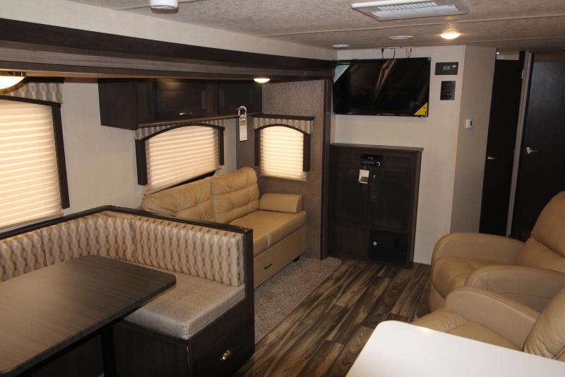 2018 Forest River Evo 2790 Travel Trailer - Rear Kitchen -  NEW Floor Plan - Loaded Options! - TV- Arctic Package - Solar Panel Package! Golden Ash Interior Decor