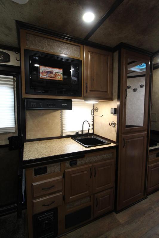 2018 Trails West Sierra 10x15 Living Quarters w/ slide - 4 Horse Trailer - Hoof Grip Flooring