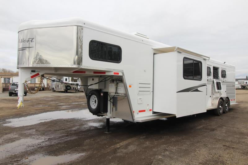 2018 Trails West Sierra 10x15 Living Quarters w/ slide - 4 Horse Trailer - Hoof Grip Flooring