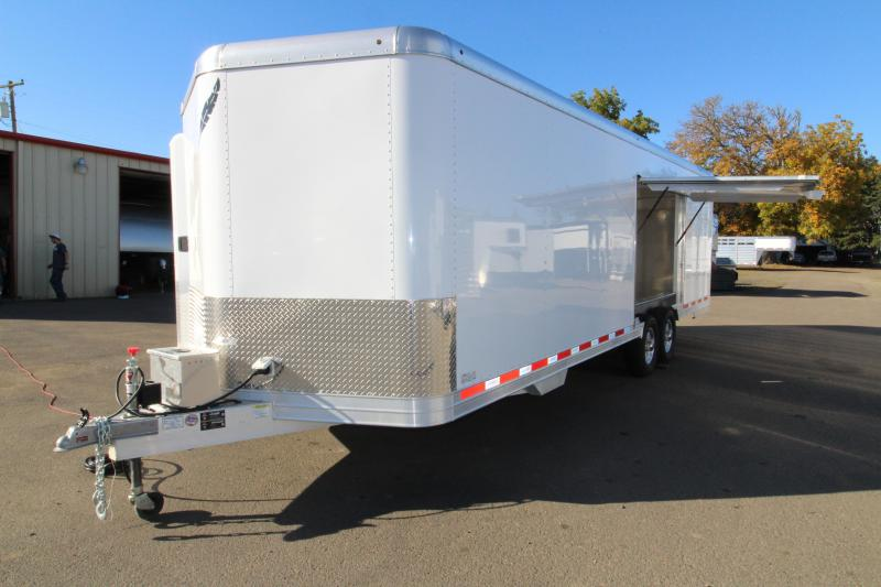 2019 Featherlite 4926 26' Enclosed Car Trailer - Insulated - Cabinets - 110v Shore Power
